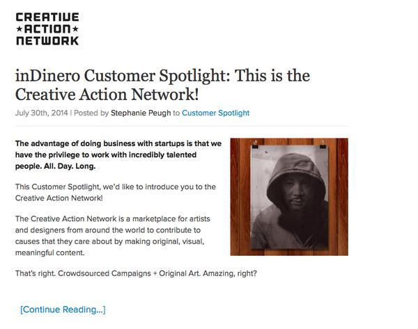 inDinero Spotlight on Creative Action Network