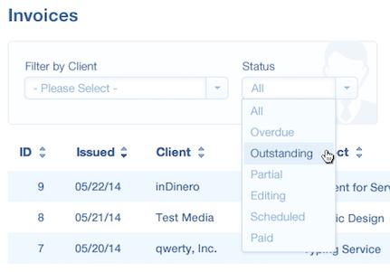inDinero Invoice Dashboard